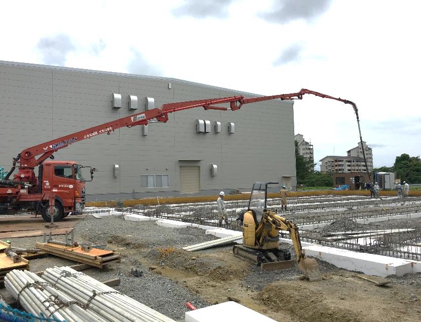 令和2年7月9日現在 基礎工事作業風景